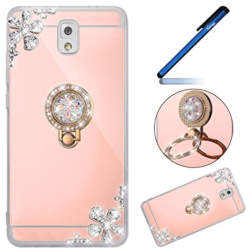 Custodia-specchio-Samsung-Galaxy-NOTE-3-Cover-specchio-Samsung-Galaxy-NOTE-3-Ysimee-Custodia-specchio-Mirror-Custodia-in-silicone-TPU-protettiva-con-anello-dito-Stand-Funzione-di-supporto-Telefoni-sup