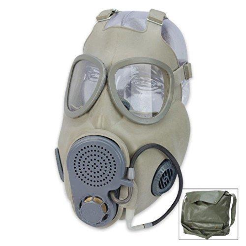 Preisvergleich Produktbild Gasmaske NVA f.Offiziere Schutzmaske M 10 Haube Halloween Gummiartikel ABC