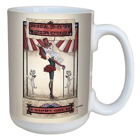 Tree-Free Greetings lm43608 15 oz Fantasy Shadow Circus Fairy Ceramic Mug with Full Sized Handle