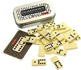 Miniature Take-Anywhere Set Of Traditional Dominoes In Pocket Size Tin