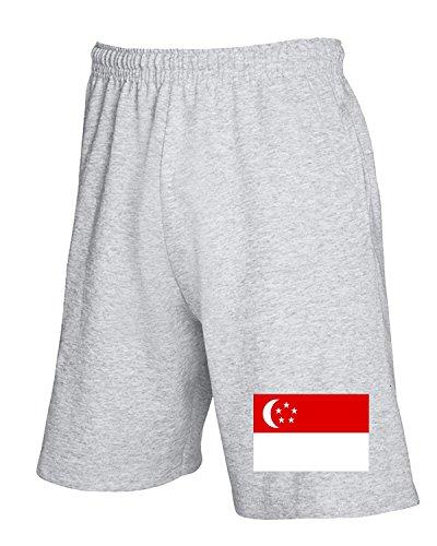 Cotton Island - Pantalone Tuta Corto TM0240 singapore flag flag Grigio