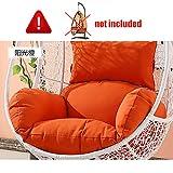 ZOUDIN Hängende Ei hängematte Stuhl Kissen ohne Stehen,Kissen für schaukel Sitz Dicke Nest hängen Stuhl Wieder mit Kissen-E