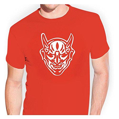 KIWISTAR - Samurai-Maske Japan Kampfkunst T-Shirt verschiedenen Farben Sticker Funshirt witzig