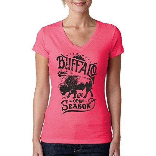 Im-Shirt - Western Shirt: Buffalo Hunt cooles Fun Girlie Shirt - verschiedene Farben Light-Pink