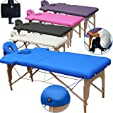 Mobile Massagetisch Massageliege Massagebank 2 zonen klappbar THERAPIELIEGE +TA. - Blau