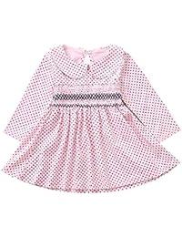 K-youth Moda Vestido Niña Ropa Bebé Recién Nacido Niña Mangas Largas Dot Bowknot Vestidos De Princesa Ropa Trajes de Ceremonia Vestido de Fiesta Bautizo Otoño Invierno