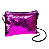 Blue Banana Two Way Pailletten Clutch Tasche (Pink)