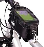 Wasserabweisende BTR-Fahrradrahmentasche & Handyhalterung. 2nd Generation. Mittelgroß mit Regenschutz