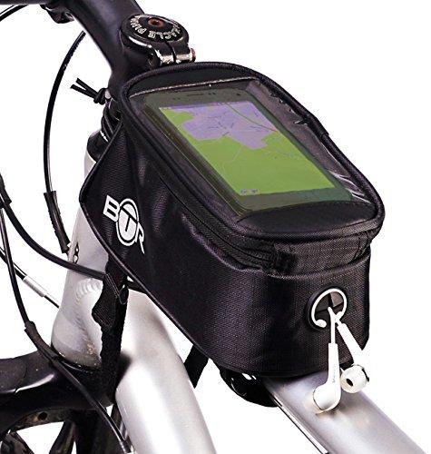 Wasserabweisende BTR-Fahrradrahmentasche & Handyhalterung. 2nd Generation. Mittelgroß -