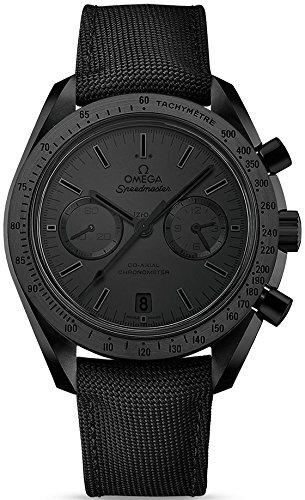 Omega Speedmaster Moonwatch Chronograph Black Dial Black Nylon Mens Watch 31192445101005 by Omega