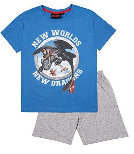 Dragones Chicos Pijama mangas cortas – Azul