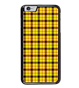 Fuson Premium 2D Back Case Cover Yellow Pattern With red Background Degined For Apple iPhone 6 Plus