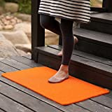 MKSFY Rutschfeste saugfähige Bodenmatte Tür Matte Kann Draht Kreis PVC Teppich Matte für Badezimmer Küche Studie Schlafzimmer Korridor Eingangstür Wohnzimmer 40 cm * 120 cm, Orange