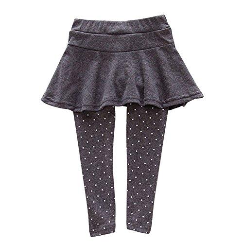 Brightup Baby Mädchen Rock Leggings Polka Dot Muster Pantskirt Hosen Strumpfhosen Hosen (Leggings Dot Hose Polka)