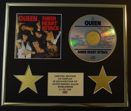 QUEEN/CD Display/Edicion Limitada/Certificato di autenticità/SHEET HEART ATTACK