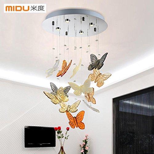 BGmdjcf Elegante e moderno cristallo romantica Lampada led lampadari a farfalla con soggiorno e cena leggera le luci della barra luminosa , camera da letto 40cm di diametro