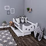 Kagu chrisi Cuna Cama Junior cama (140x 70cm o 160x 80cm). Madera de pino madera maciza, incluye colchón y cajón
