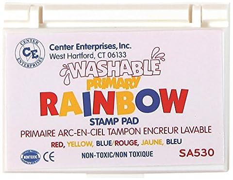 CENTER ENTERPRISES INC. CE-SA530 STAMP PAD RAINBOW PRIMARY 3 COLORS WASHABLE