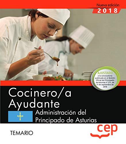 Cocinero/a Ayudante de la Administración del Principado de Asturias. Temario
