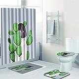 SLGJYY Einfache Duschvorhangmatte Kombination Vier Sätze von Toiletten-WC-Teppich Duschmatte Matten