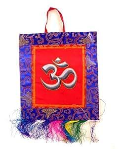 THANGKA - décoration murale OM Inde - 31 x 29 cm cm