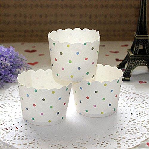 SwirlColor 50 casi pezzi di carta torta cupcake tazze di