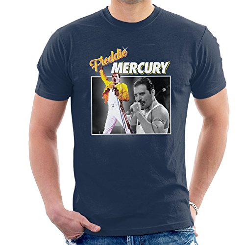 Freddie Mercury Queen Tribute Montage Men's T-Shirt