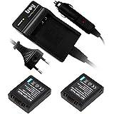 2 Chargeur de batterie pour panasonic dMW-bM7 cGA-s002 pour lUMIX dMC-fZ1, fZ2, fZ3, fZ4 fZ5 fZ10, fZ15 fZ20 fX1-fX5 fC20
