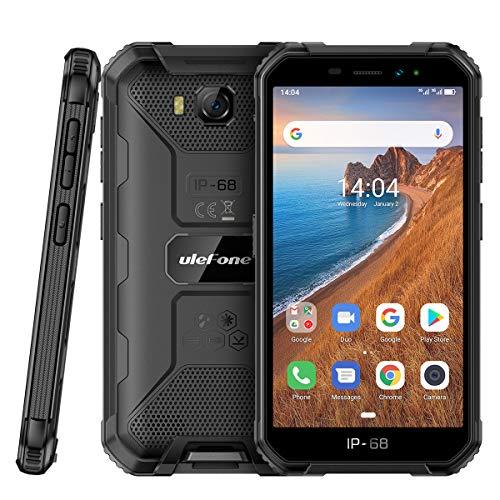 Günstig Outdoor Handy Ulefone Armor X6 (2020) Robustes Wasserdicht Smartphone ohne Vertrag Android 9.0, 5.0 Zoll, 2GB RAM+16GB ROM, 4000mAh, Quad-core IP68/IP69K, Stoßfest Staubdicht Face ID GPS