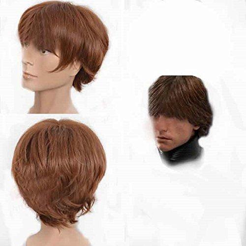 Film Cosplay Kostüm Costume Braun Kurz Haar Zubehör Hair Accessosries ()
