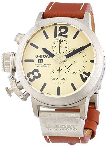 U-Boat  6918 - Reloj de automático para hombre, con correa de cuero, color marrón