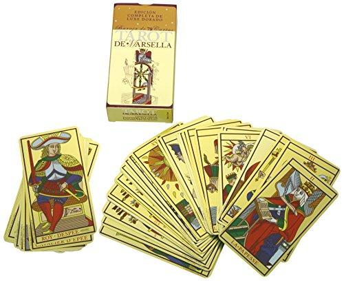 Tarot de Marsella: Edición Completa de Luxe Dorado, Baraja de 78 cart