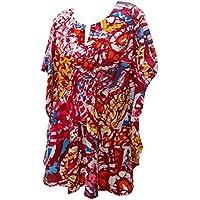 La Leela super soft likre kimono arte astratta elastico 4 in 1 spiaggia di occultamento bikini tunica top abbigliamento casual di base plus size costume da bagno bikini donne kaftankaftan