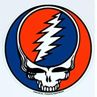 "GDP Inc - Steal Your Face 1976 Album Grateful Dead etiqueta Sticker - 5"" x 5"" - Weather Resistant, Long Lasting for Any Surface"