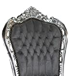 Casa Padrino Barock Esszimmer Stuhl Grau/Silber- Antik Stil – Möbel - 2