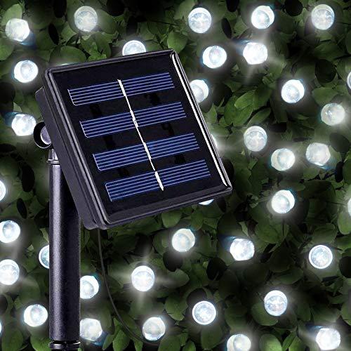 SPV Lights 100 Helles Weißlicht LED Solarlichterketten - Solarbetriebene Wasserfest Solar Garten...