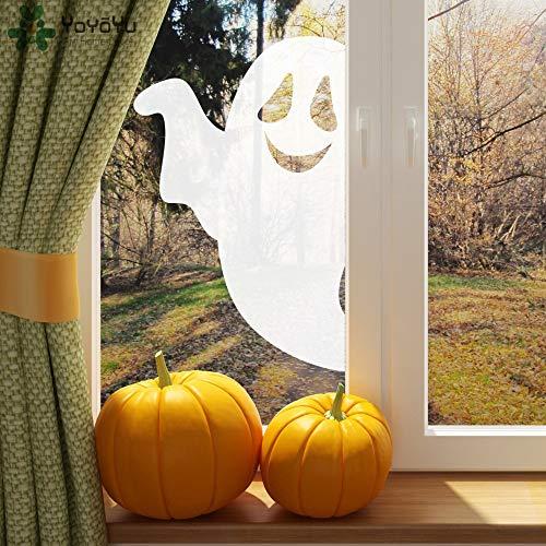 ween Ghost Wandaufkleber Happy Holiday Vinyl Wandtattoo Tür Home Fenster Dekor Modern Festival Abnehmbare Art D 42x67 cm ()