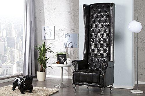 Invicta Interior 21400 Sessel Royal Chair, schwarz