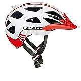 Casco Erwachsene Active 2 Fahrradhelm, Mehrfarbig (mehrfarbig (weiß-rot)), L (58-62 cm)