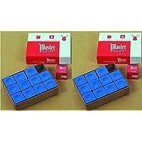 Original USA Billardkreide Master, 12 Stück im Karton (blau/grün/rot/grau) zu Auswahl