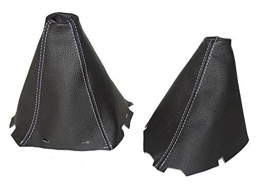 para-nissan-pathfinder-2006-2012gear-y-freno-de-mano-cuero-negro-costuras-de-color-blanco