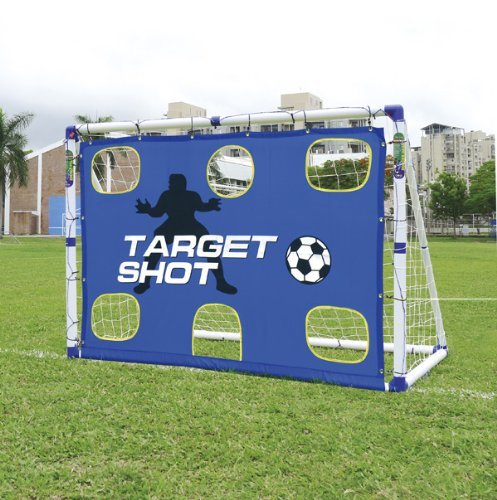 6FT GOAL 2 IN 1 TARGET SHOT SOCCER FOOTBALL GOALS