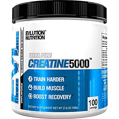 Evlution Nutrition Creatine5000 5 Grams of Pure Creatine in Each Serving Unflavored Powder by Evlution