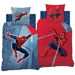 Spiderman–Juego de cama, algodón, azul/rojo, 140x 200cm