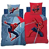 Spiderman Bettwäsche-Set, Baumwolle, Blau/Rot, 140 x 200 cm