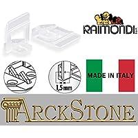 ARCKSTONE 500 basi 3D piastrelle 3-12 fuga 1,5 mm Raimondi Levelling System (Pinza Delle Mattonelle)