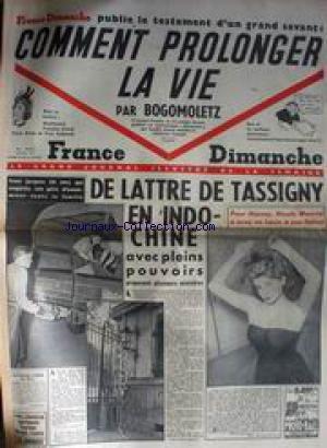 FRANCE DIMANCHE [No 217] - MONTHERLANT - F. IROUD -