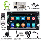 Doppel-DIN Android Stereo-Receiver im Schlag-Auto Head Unit DVD-Players & Rearview Backup-Kamera, 6.2