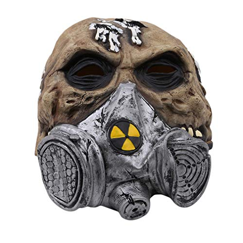 L_shop Halloween Horror Maske Scary Dress Up Maske Haunted House Dekoration Dressing Room Dekoration Requisiten Halloween Party Maske, wie es Beschreibung (Nr. 4), Gasmaske