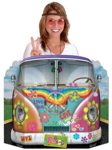 Muro de cartón bus hippie - Única